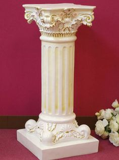 Popular product restocked! white columns stand flower!