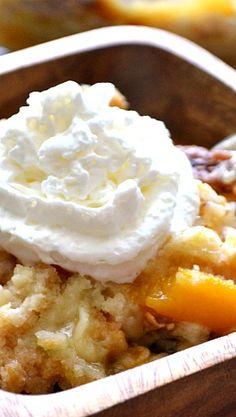Peaches & Cream Dump Cake