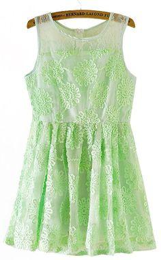 Mint Lace Dress <3.. summer dress!
