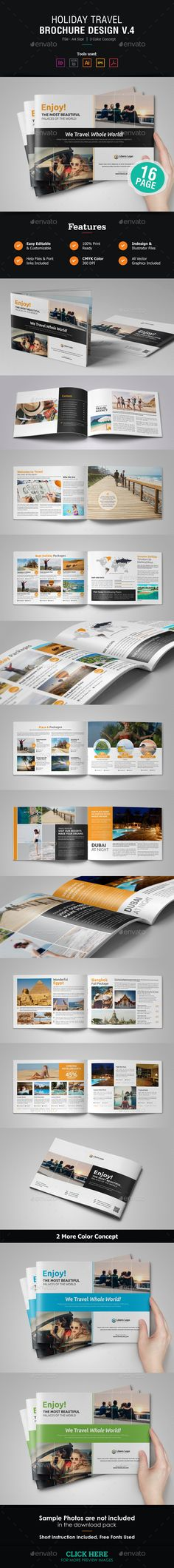 Holiday Travel Brochure Design v4