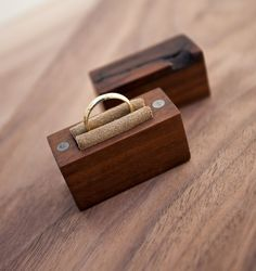 Ring box made from walnut wood - engagement ring box - proposal ring box #woodworking #ring #box #proposal #wedding #engagement