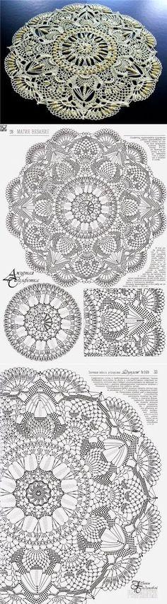 29 Ideas for crochet doilies crafts charts Filet Crochet, Crochet Doily Diagram, Crochet Rug Patterns, Crochet Mandala Pattern, Crochet Chart, Thread Crochet, Crochet Designs, Crochet Stitches, Crochet Rugs