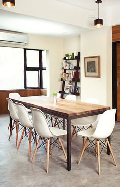 dining table eames chairs | dining table with Eames chairs