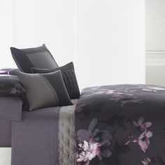 Vera Wang Night Blooms Duvet Cover. #BeddingStyle