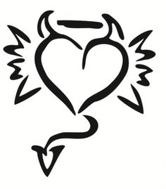 Harry Tattoos, Sharpie Tattoos, Bff Tattoos, Body Art Tattoos, Small Tattoos, Devil Tattoo, Poke Tattoo, Angle Tattoo, Yin Yang Tattoos