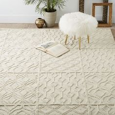 Living Room Rug Idea: Variegated Knot Wool Rug   West Elm