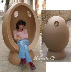 fauteuil oeuf en carton                                                                                                                                                                                 Plus