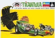 Monogram T'rantula replica model box fridge magnet - new! Vintage Models, Old Models, Vintage Photos, Model Box, Vintage Trucks, Vintage Toys, Model Cars Building, Revell Monogram, Monogram Models