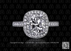 Halo antique cushion engagement ring by Leon Mege. Definitely said I'd always want a round stone but I'm starting to think cushion or pillow cut ones are also an option. Wedding Bands, Wedding Things, Dream Wedding, Platinum Engagement Rings, Diamond Solitaire Rings, Antique Rings, Round Diamonds, Halo, Jewelry Design