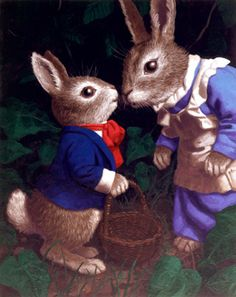 PETER AND MOTHER COTTONTAIL BY GREG HILDEBRANDT
