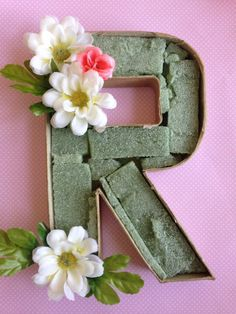 How to Make Floral Cardboard Letters