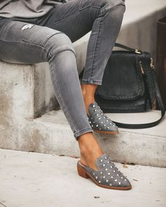 Loafers without question are a form standard that often includes moderately of smart-casual fad to really what ever outfit collection. Grey Loafers, Studded Loafers, Loafers Outfit, Loafer Shoes, Gucci Loafers, Tassel Loafers, Loafers Men, Cute Casual Shoes, Cute Shoes