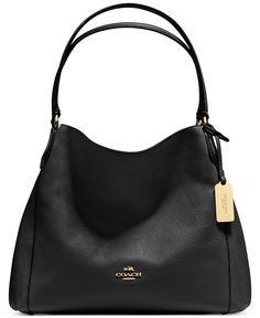 a0d7622d482 COACH Edie Shoulder Bag 31 in Refined Pebble Leather Handbags   Accessories  - Macy s