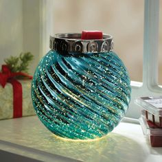 Better Homes and Gardens Warmer, Teal Ornament