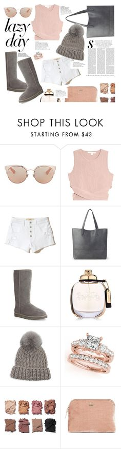 """Lazy day No2."" by zeljkaa ❤ liked on Polyvore featuring Christian Dior, Jonathan Simkhai, Hollister Co., Sole Society, UGG, Coach, Eugenia Kim, Illamasqua and Kate Spade"