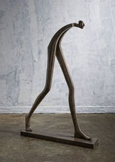 Isabel Miramontes Contemporary Figurative Sculpture: Big Step 2016 What is Art ? Sculpture Metal, Abstract Sculpture, Sculpture Garden, Contemporary Sculpture, Contemporary Decor, Metal Art, Wood Art, Sculptures Céramiques, Sculpture Ideas