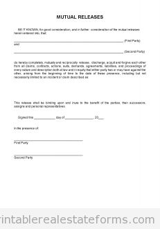 Contract Release Form   350 Best Free Printable Real Estate Forms Images On Pinterest Free