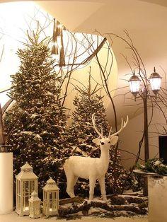 Decoración navideña para hall