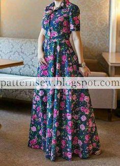 باترون مفصل لفستان صيفي - Pattern Sewing