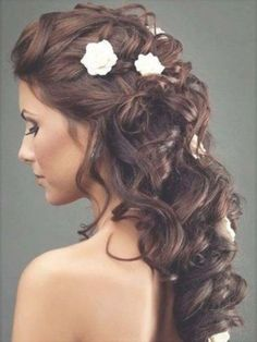 hairstyles ideas curly wedding hairstyles updo gorgeous real of within loose curly updo wedding hairstyles by thisbestidea Loose Curly Updo, Short Hair Updo, Haircuts For Long Hair, Long Curly Hair, Long Hair Cuts, Curly Hair Styles, Wavy Curls, Short Wavy, Straight Hairstyles