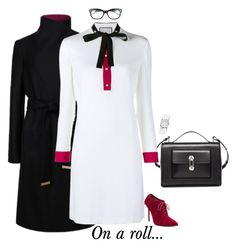 """On a roll..."" by sophie-poualion ❤ liked on Polyvore featuring Balenciaga, Ted Baker, Gucci, WithChic, Kate Spade, Michele, women's clothing, women, female and woman"