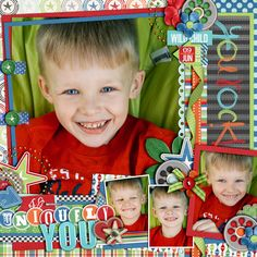 """1. Kit: """"Pop a Wheelie: Boy"""" by Traci Reed and Jady Day Studio  2. Template: """"Half Pack #49"""" by Cindy Schneider  3. Template: """"Layered Dates Set #15"""" by Cindy Schneider  4. Template: """"Layered Titles: For The Girls Set #1"""" by Cindy Schneider"""