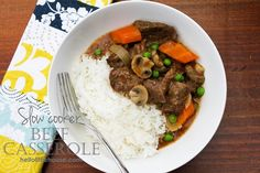 Slow cooker beef casserole | Hello Little House