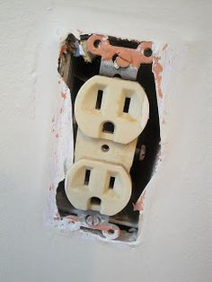 Changing out an outlet. I'm not sure why I'm pinning this because I just had someone switch out all the outlets in our kitchen... So not like I have any intention of DIYing that, but I guess it could still be good to know at some point!