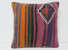 Turkish cushion sofa throw pillow kilim pillow cover decorative pillow case couch outdoor floor bohemian decor boho ethnic rug accent 21900