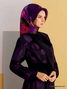 Armine Bodrum Floral Silk Hijab - 1