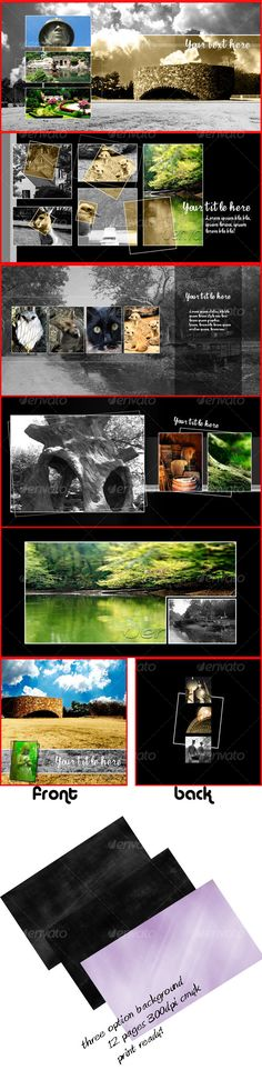 InDesign photo collage template