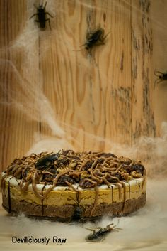 Deadly Pumpkin Cheesecake.  Pick your poison and get into the Halloween Spirit. #raw #vegan #pumpkin #cake #halloween #rawfooddublin #deviliciouslyraw