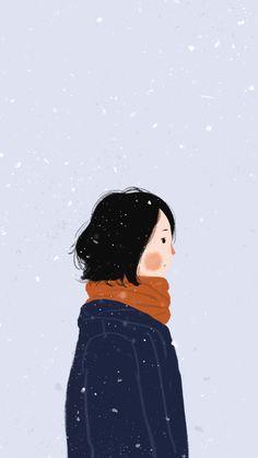 Illustrations of people Couple Wallpaper, I Wallpaper, Cartoon Wallpaper, Wallpaper Backgrounds, Whatsapp Wallpaper, Illustration Girl, Korean Illustration, Couple Art, Couple Pics