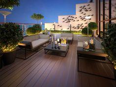 Awe-inspiring Rooftop Deck and Terrace Design Ideas rooftop outdoor living 28 Terrace Garden Design, Rooftop Design, Balcony Design, Patio Design, Terrace Ideas, House Design, Terrasse Design, Small Balcony Decor, Rooftop Terrace