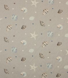 This fabric depicting seashells is part of a collection of coordinating 100% cotton printed fabrics. This fabric coordinates with seaside spot, seabirds and skipper. It is also available in pvc so is great for tablecloths. This collection inspired by the British seaside provides endless opportunities for traditional and contemporary interiors.Check out our how to section for ideas of how to use these fabrics.