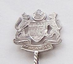 Collector Souvenir Spoon Malaysia Coat of Arms Figural
