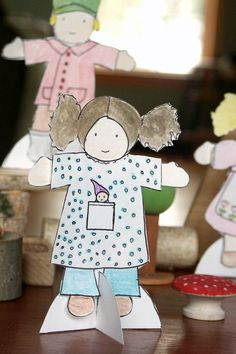 Waldorf doll paper dolls printable pdf both by adirondackpatterns, $8.00