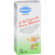 Hylands Homeopathic Cold Sores and Fever Blisters - 100 Tablets - We understand the pain of cold sores and fever blisters  inside and out.  Youve probably tried many medicines to help with the healing and discomfort. Hylands Cold Sores / Fever Blisters relieves the painful symptoms of unsightly cold sores.*   They also work on cracked lips as well as canker and mouth sores made worse by acidic foods.  Theyre safe for adults and children and can be used in conjunction with other…