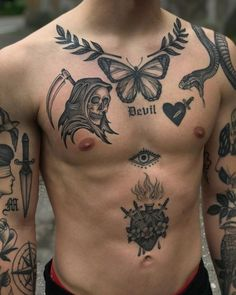Tattoos Torso, Tattoos Masculinas, Daddy Tattoos, Hot Guys Tattoos, Mini Tattoos, Small Tattoos, Sleeve Tattoos, Body Art Tattoos, Tribal Tattoos