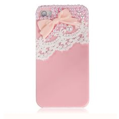 Cute Ice Cream Bow Lace Pearl Candy Hard Case Back Cover for Apple iPhone 4 4S | eBay