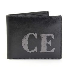Personalised Black Rustic Initials Wallet Personalise this genuine leather wallet with any initials of 2 characters upper case Wallet Personalized Leather Wallet, Personalized Gifts, Christmas Stocking Fillers, Christmas Gifts, Usher Gifts, Thank You Presents, Rfid Wallet, Practical Gifts, Fathers Day Gifts