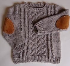 toddler's aran sweater