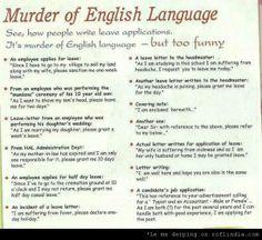 Murdering English: Corporate Style