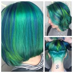 Stephanie Lawrence (@hair_princess_steph) of Lush Hair Salon, Londonderry, NH, has been doing hair for about 10 years but in the last 7 months has become a devotee vivid colors. Here she shares the details on this transformation of her client that had natural hair and was looking for blues and greens. Step 1: Pre-lighten with All Nutrient lightener with 20 volume on the roots and 40 volume with B3 (which dropped it to 30 volume) on the ends. Shampoo and dry and prep with Moringaplex. Step…