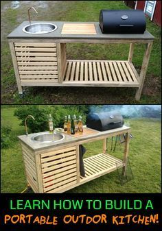 Can't afford a full size outdoor kitchen? Then this project is for you!