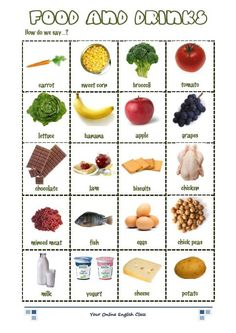vocabulary food and drink exercises