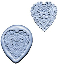 Lace Maker silicone mold -Heart- cake decorating fondant gum paste CK Products