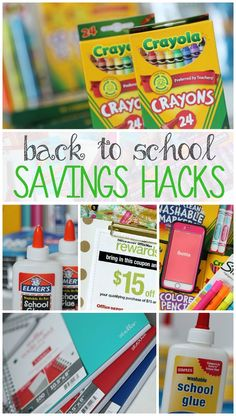 Back to School Shopping and Savings Hacks to get the best deals and prices on school supplies!