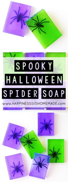 Spooky Spider Soap Halloween Craft - These spooky spider soaps are a fun and easy Halloween craft that the whole family will enjoy making together! Super quick to make – you can whip up an entire batch in about 10 minutes! Halloween School Treats, Halloween Crafts For Kids, Halloween Activities, Holidays Halloween, Halloween Fun, Holiday Crafts, Holiday Ideas, Halloween Celebration, Halloween Decorations