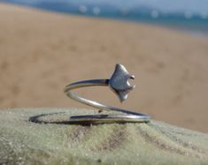 Manta Wrap Ring 925 Silver - Ocean Jewellery by Sophie Jade Jewellery